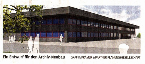 Entwurf Neubau Stadtarchiv